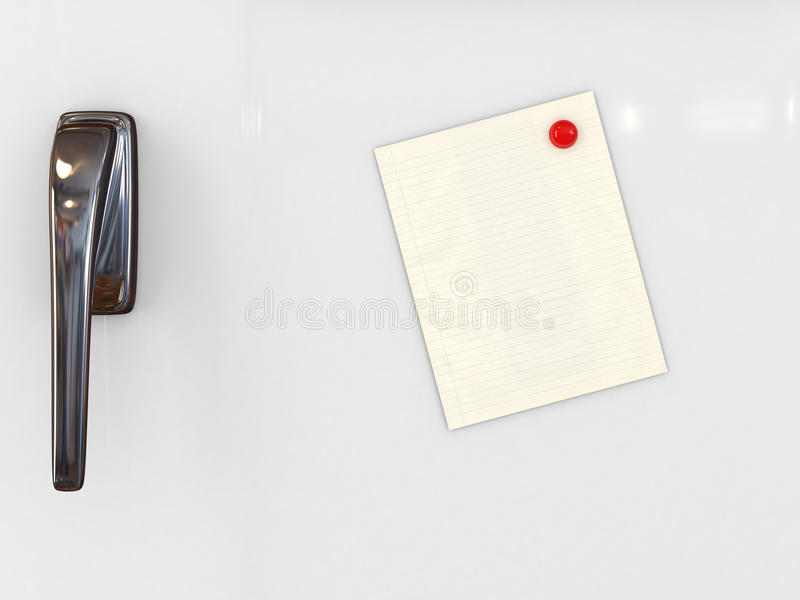 Message Paper On White Refrigerator Royalty Free Stock Photo