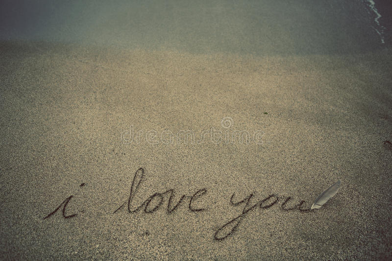Message in the Sand stock photography