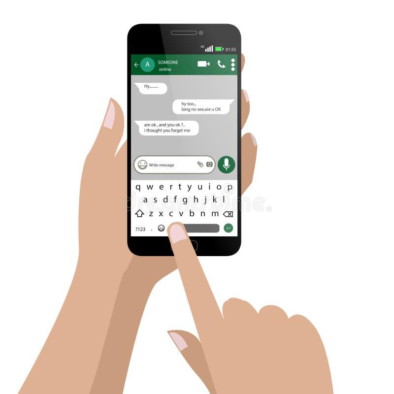 Message social d'écriture de réseau illustration libre de droits