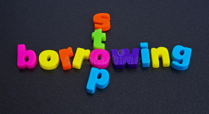 Download Message To Governments; Stop Borrowing. Stock Photo - Image: 13412720