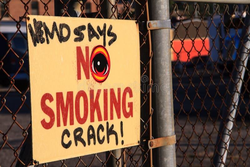 Message urbain d'Anti-drogue photographie stock libre de droits