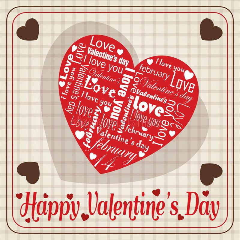 Message of white love on Valentine`s special heart Day vector illustration