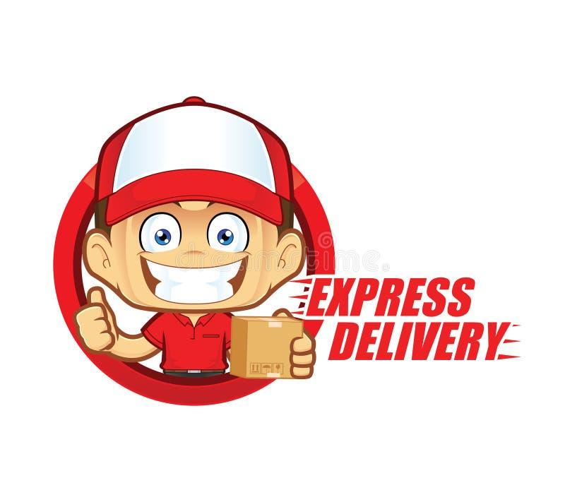 Messager de service de livraison express illustration libre de droits