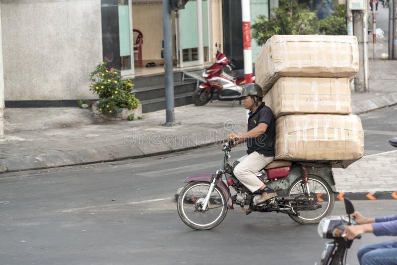 Messager Saigon de motocyclette photographie stock