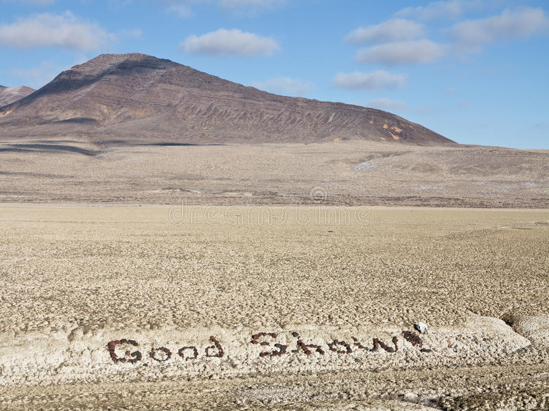 Messages in the desert. Good Show!