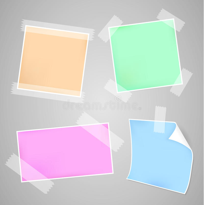 Download Messages papers set stock illustration. Image of message - 25199910