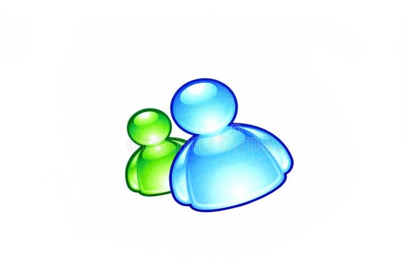 Messaggero di MSN fotografia stock