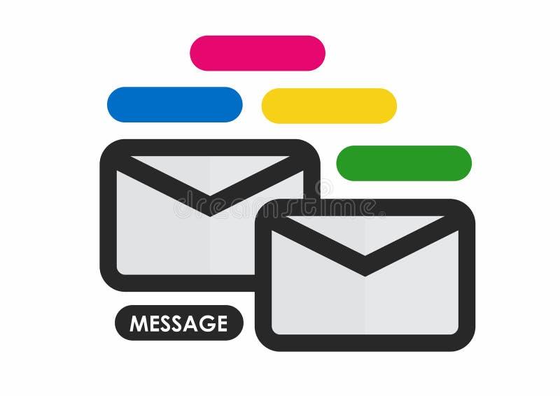 messaggio illustrazione vettoriale