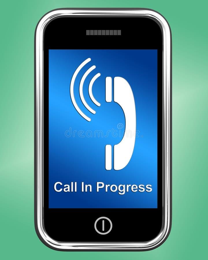 Messaggio in corso di chiamata sul telefono cellulare illustrazione vettoriale