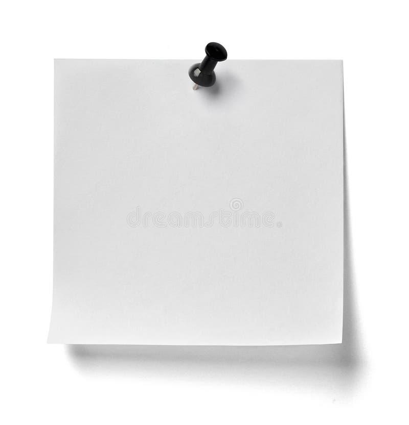 Messaggio del perno di spinta della carta per appunti immagini stock libere da diritti