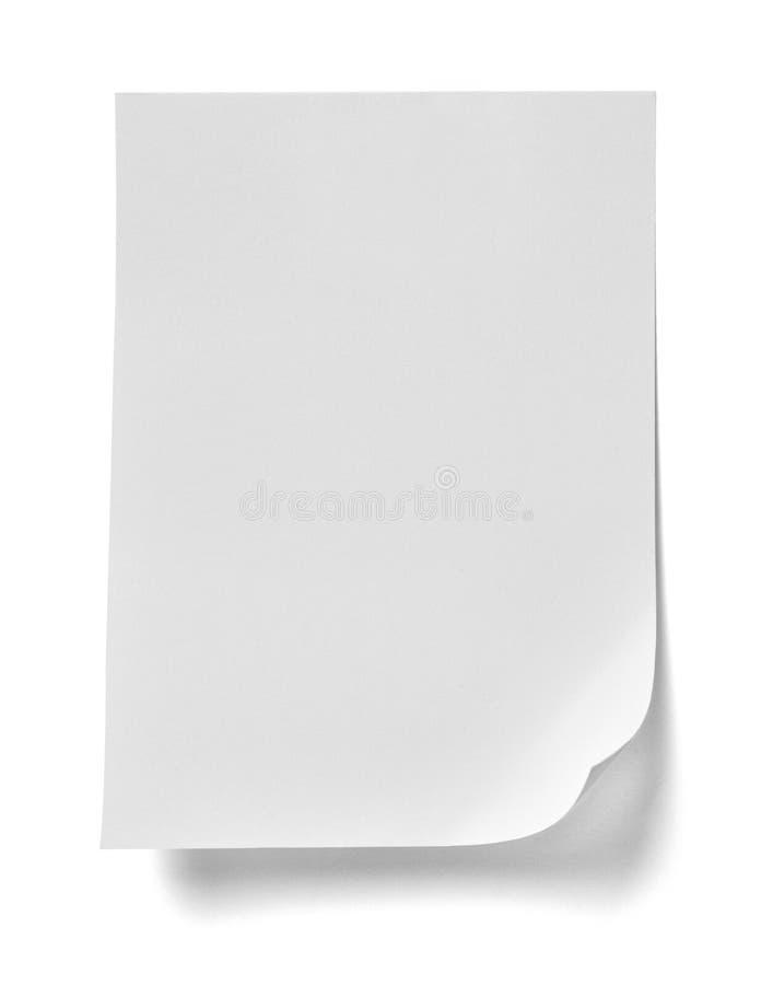 Messaggio del perno di spinta della carta per appunti immagine stock libera da diritti
