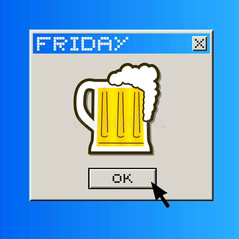 Messaggio della birra di venerdì illustrazione vettoriale