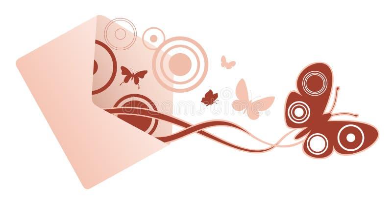 Messaggio della farfalla illustrazione di stock
