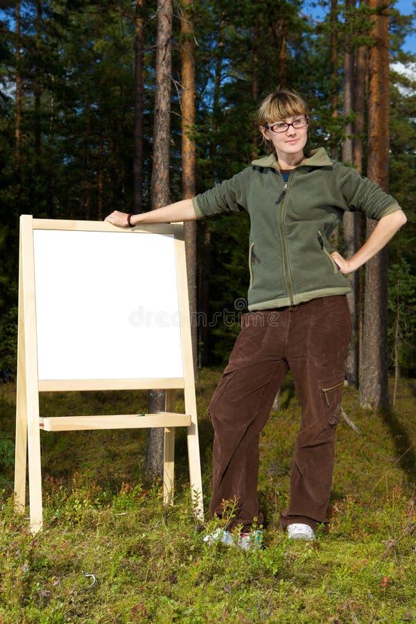 Messaggio della foresta fotografia stock