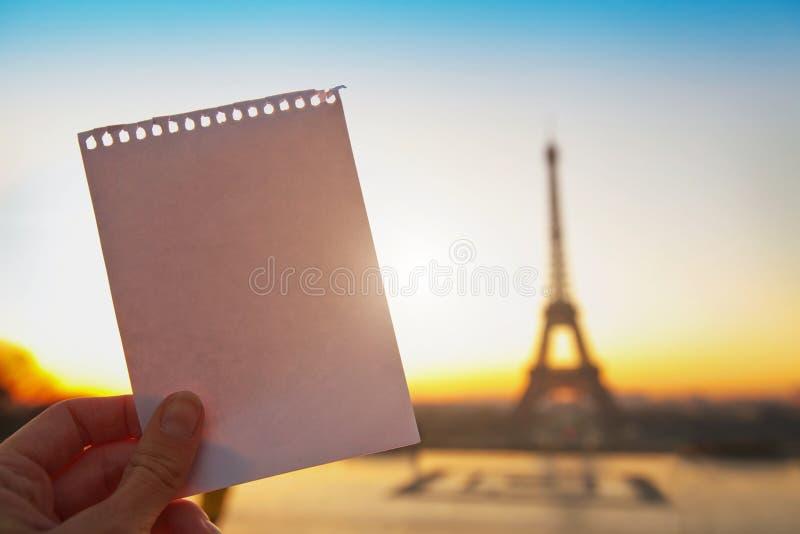 Messaggio della lettera da Parigi fotografia stock