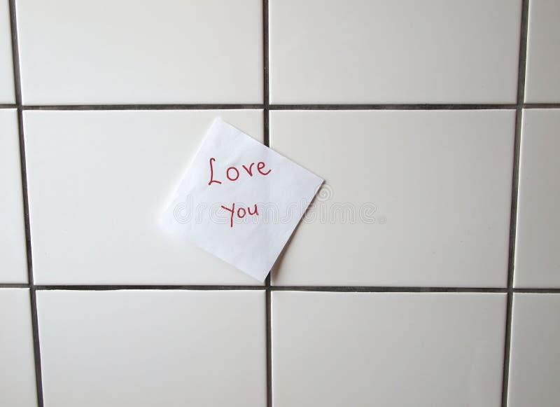 Messaggio di amore fotografia stock