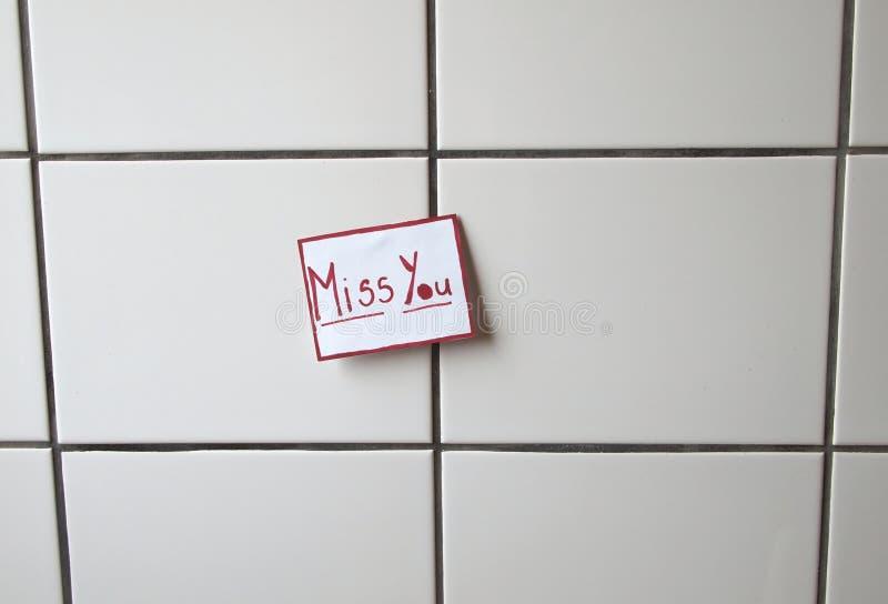 Messaggio di amore fotografie stock