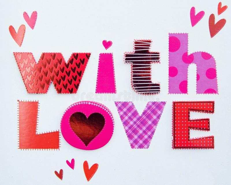 Messaggio di amore. fotografia stock