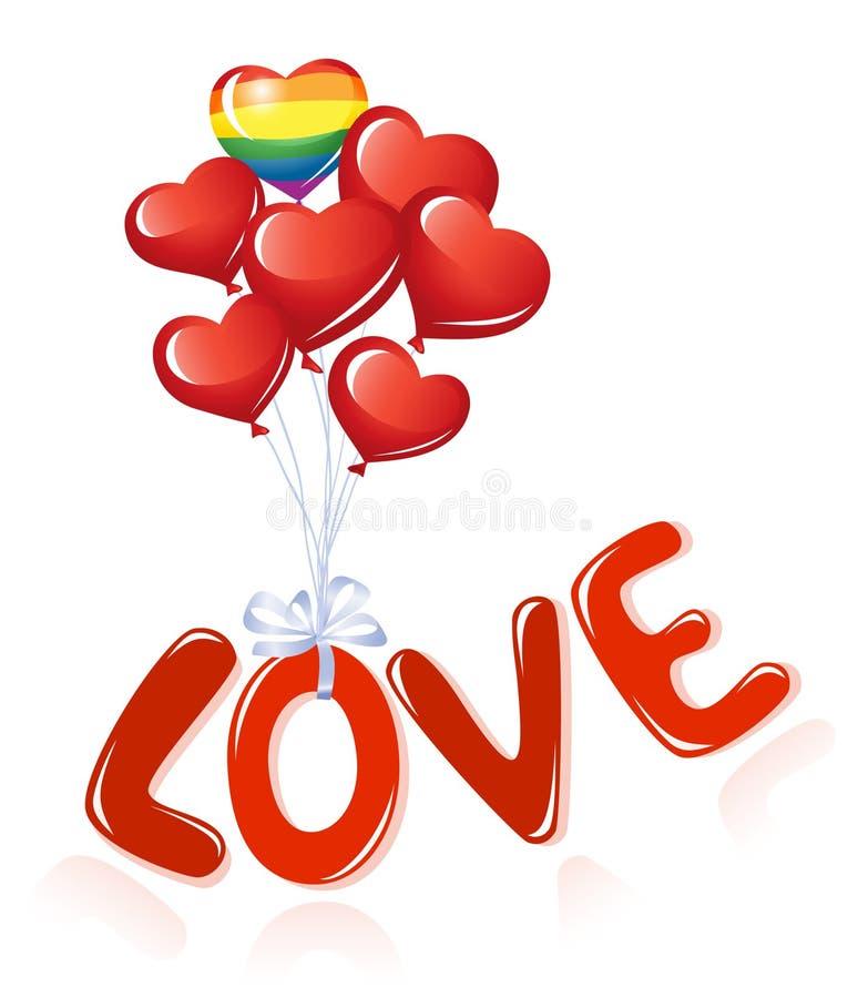 Messaggio di amore royalty illustrazione gratis