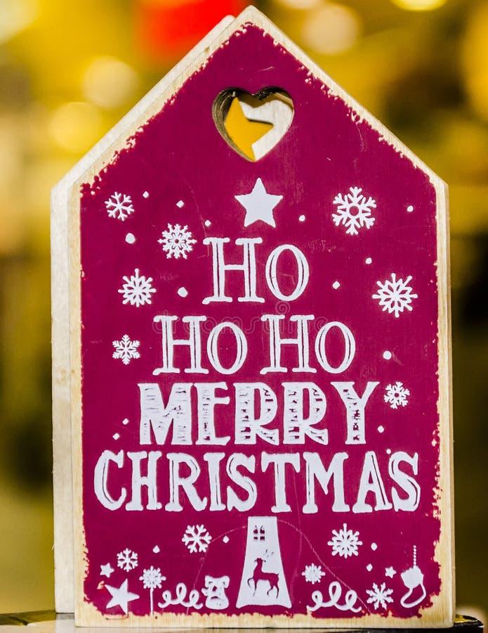 Messaggio di Buon Natale fotografia stock