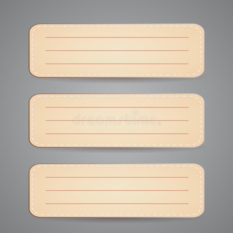 Messaggio di carta della nota Vettore fotografie stock