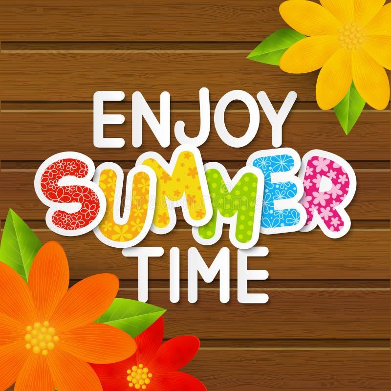 Messaggio di carta di estate illustrazione di stock