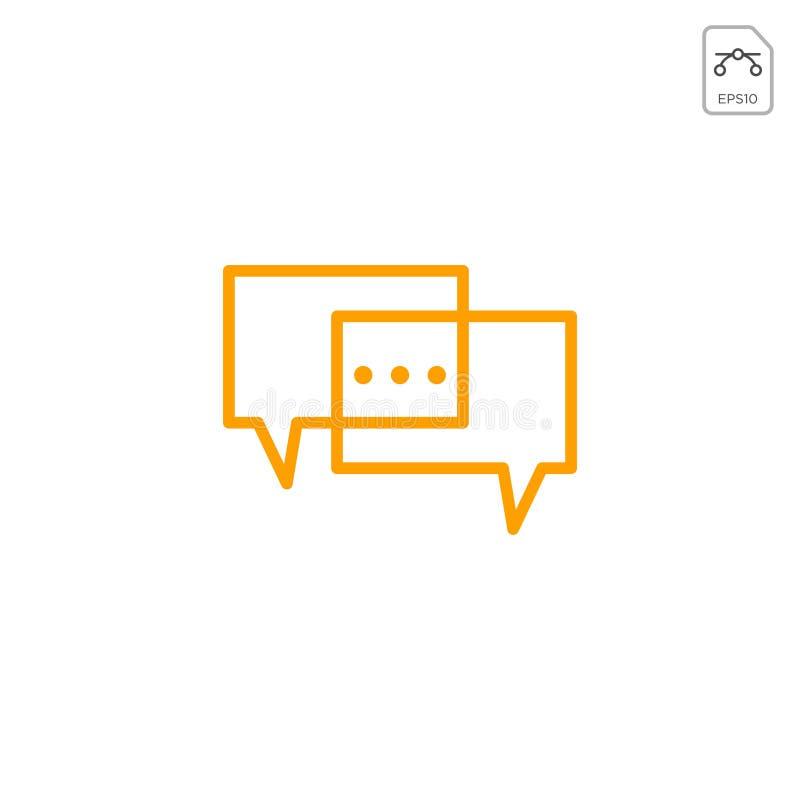 Messaggio di chiacchierata, discorso, logo di conversazione o vettore dell'icona isolati illustrazione di stock