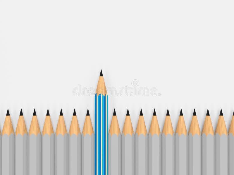 Messaggio di direzione, concetto di affari 3d illustrazione vettoriale