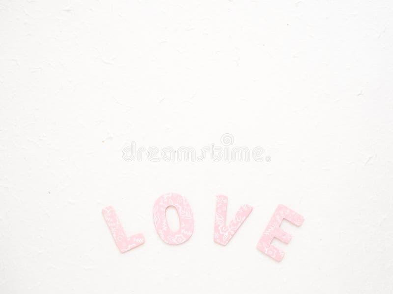 Messaggio di giorno di 14 Valentine's di amore fotografia stock libera da diritti