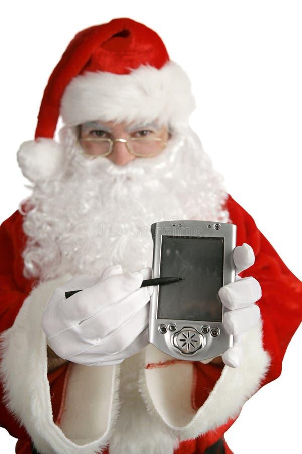 Messaggio di natale da Santa immagini stock