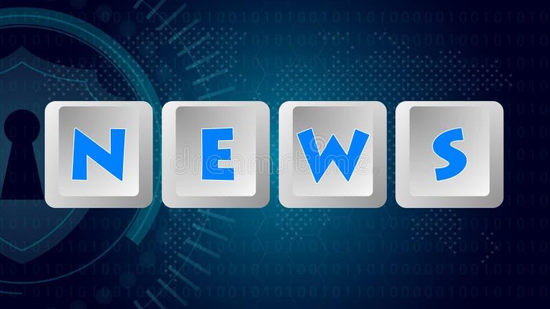 Messaggio 004 di notizie - bottoni della tastiera illustrazione vettoriale