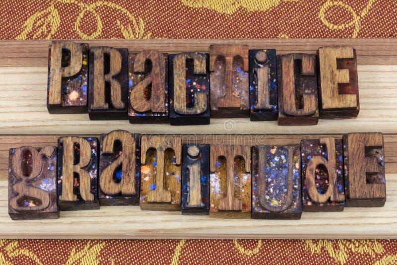Messaggio di ringraziamento di pratica dello scritto tipografico fotografie stock