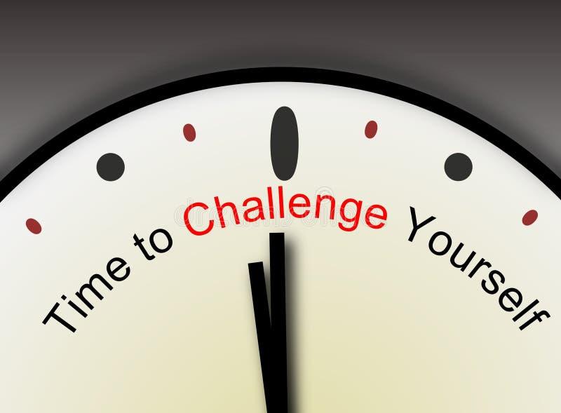 Messaggio di sfida voi stessi illustrazione vettoriale