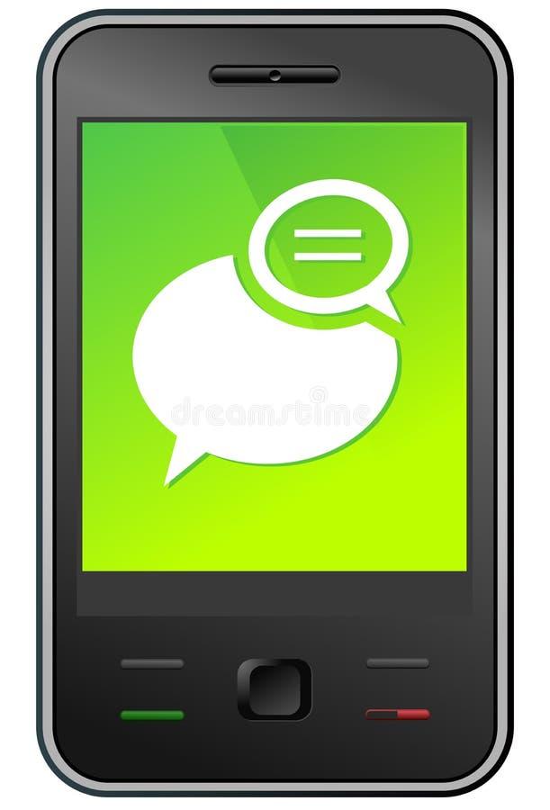 Messaggio di telefono mobile illustrazione di stock