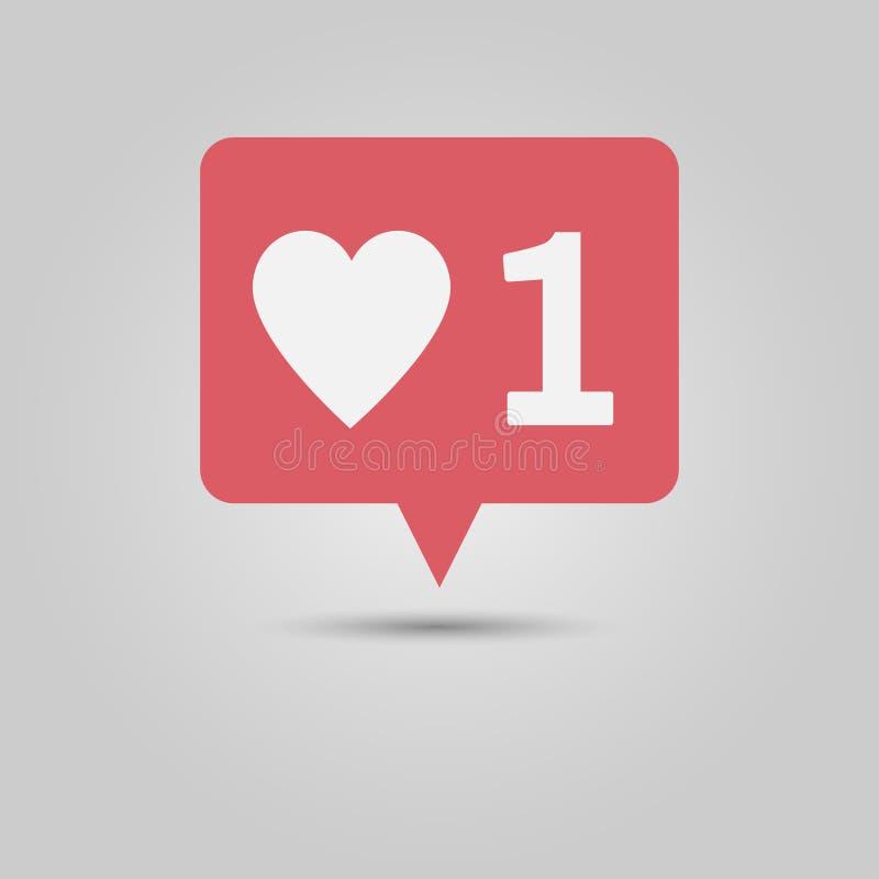 Messaggio a finestra di notifica di media sociali nuovo come fotografie stock libere da diritti