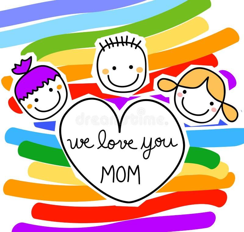 Messaggio per il giorno di madri illustrazione vettoriale