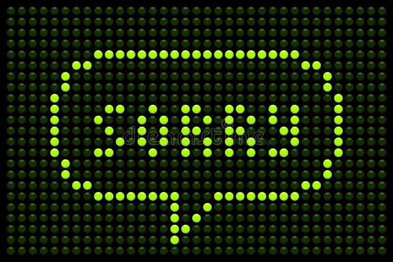 Messaggio spiacente sul bordo del LED illustrazione vettoriale