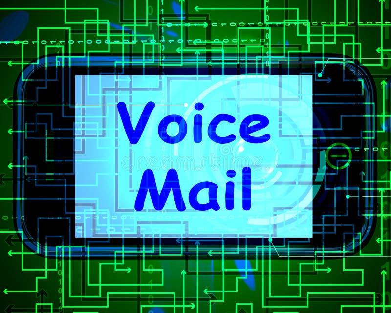 Messaggio vocale sulla conversazione di manifestazioni del telefono per lasciare i messaggi illustrazione di stock