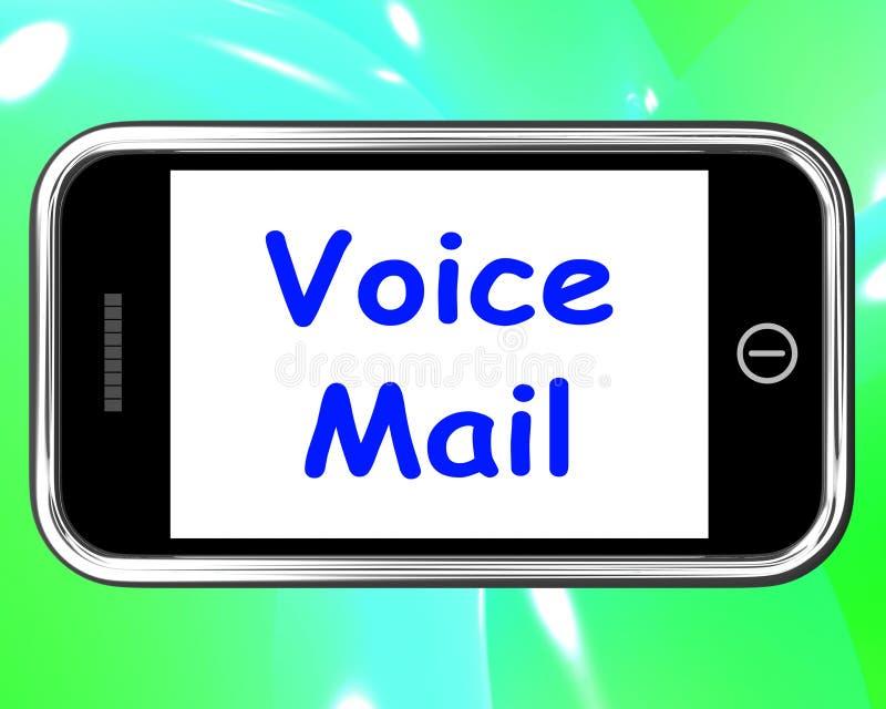 Messaggio vocale sulla conversazione di manifestazioni del telefono per lasciare messaggio illustrazione di stock