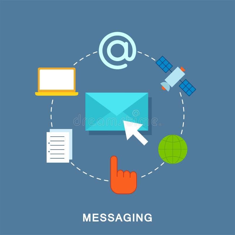 messaging illustration stock