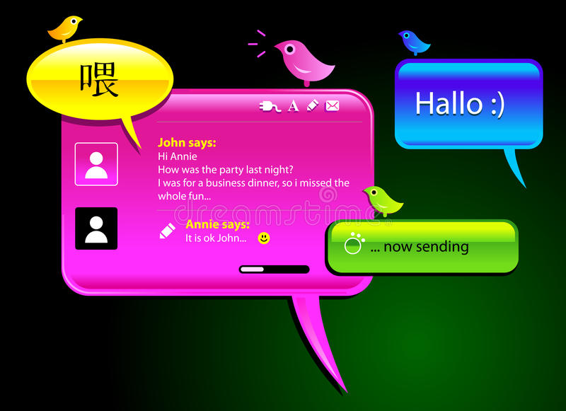 Messaging balloons royalty free illustration