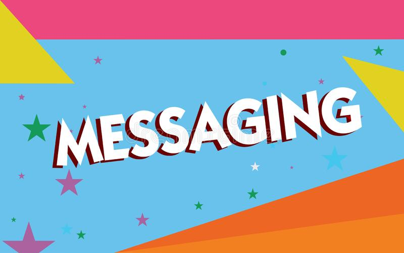 Messaging för textteckenvisning Begreppsmässig fotokommunikation med andra till och med meddelanden som smsar att prata vektor illustrationer