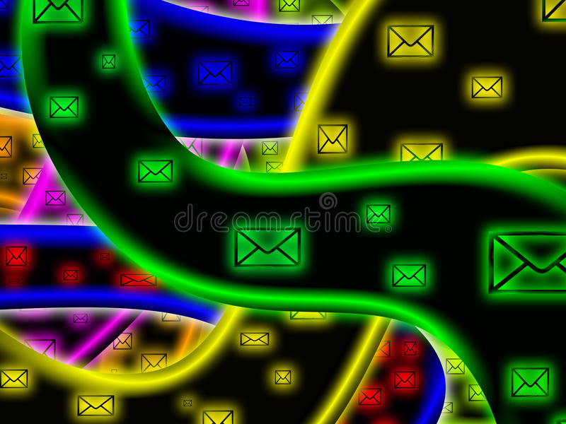 Messaging på internet vektor illustrationer