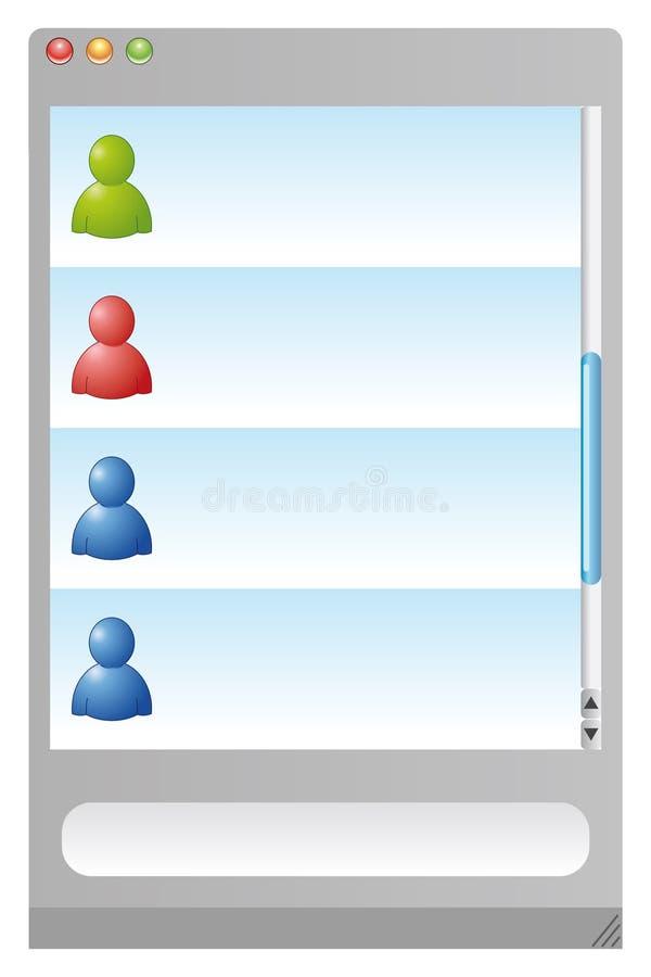 Messanger browser vector illustration