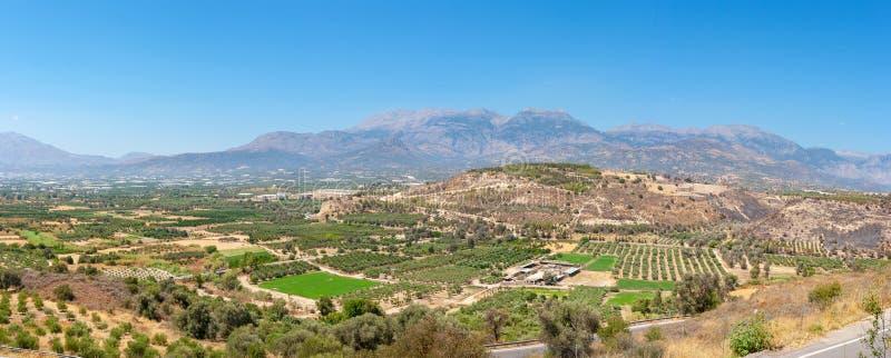 Messara平原风景  克利特希腊 免版税库存照片