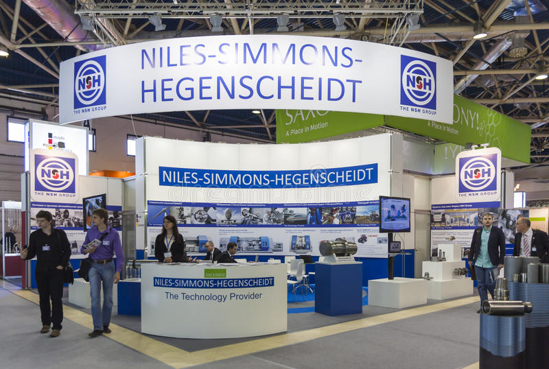 Messe des internationalen Handels METALLOOBRABOTKA lizenzfreie stockfotografie
