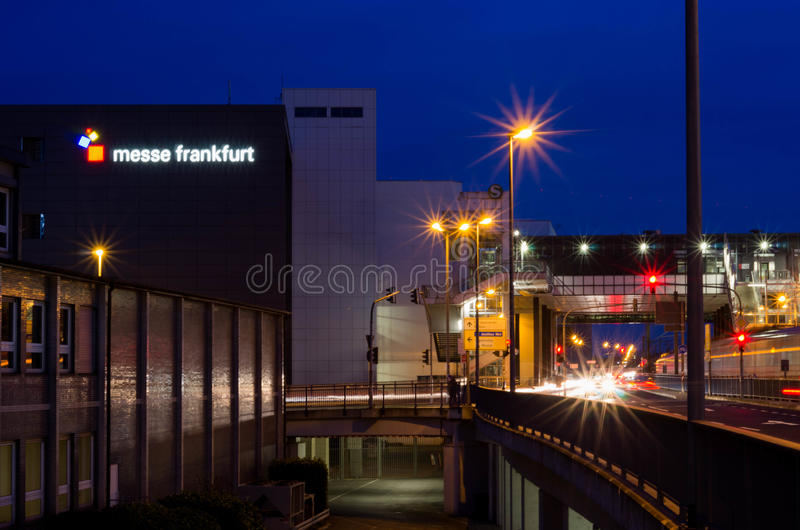 Messe Frankfurt - f.m. - strömförsörjning arkivbilder