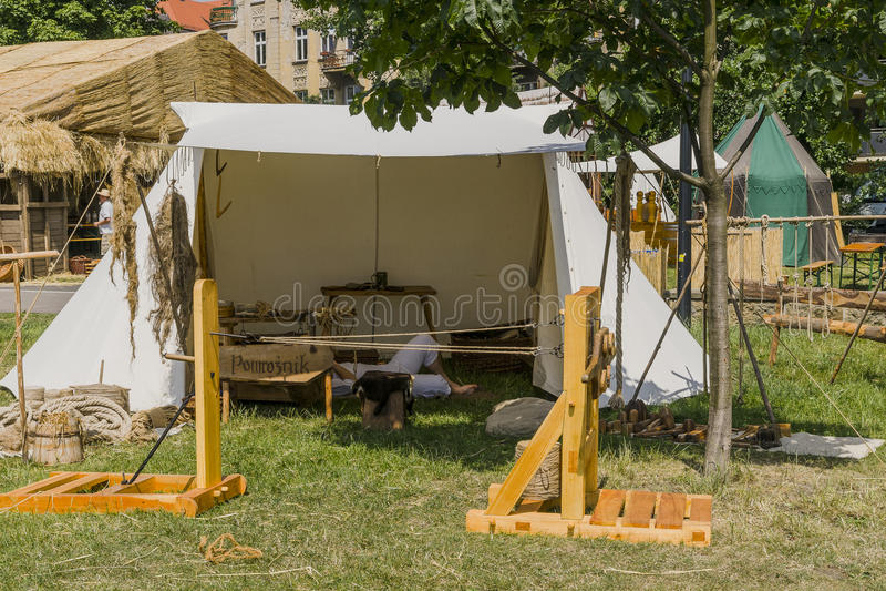 Messe nahe bei dem Wawel-Schloss stockfoto