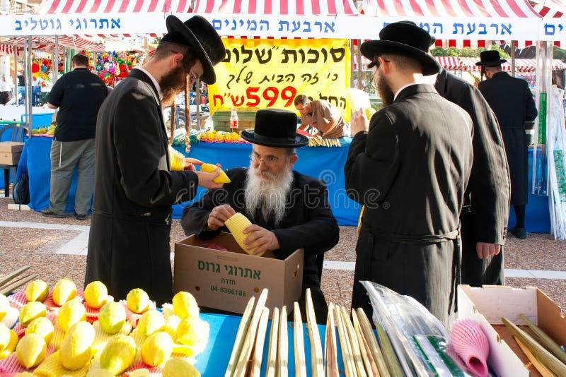 Messe zum biblischen Feiertag Sukkot stockbild