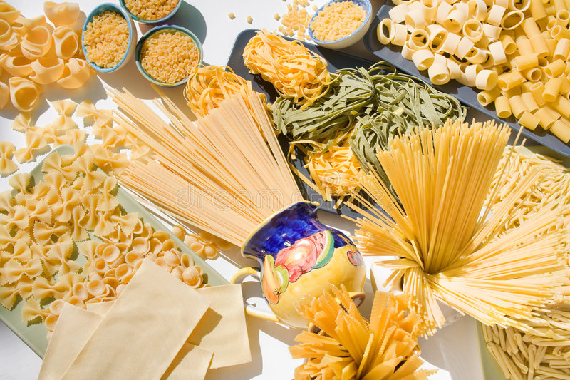 Messed Up Pasta Stock Images